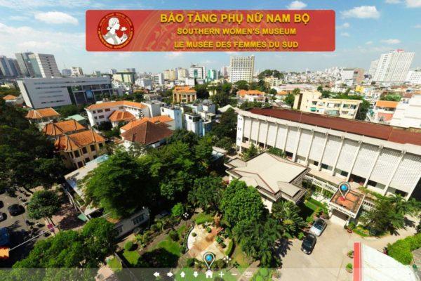View Flycam Panorama 360 không gian bên ngoài của bảo tàng