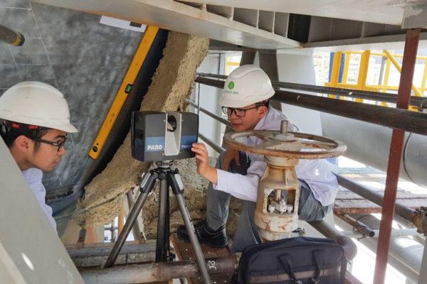 StarGlobal 3D cung cấp dịch vụ kiểm tra 3D (3D inspection) phân tích độ lệch bề mặt, dự án thành côngphân tích bề mặt bồn chứa Hter của nhà máy đạm Phú Mỹ