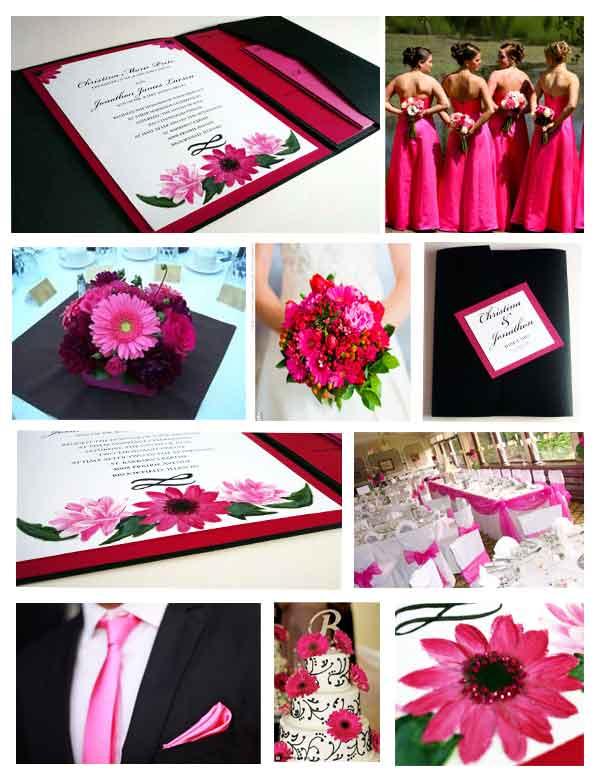 Pink Gerbera Daisy Invitation Starglow Studios