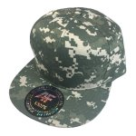 Custom Camo Snapback Flat Bill Hat (Embroidered with Logo) - Digital Camo - AF1013C