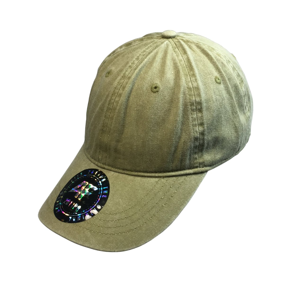 Custom Pigment Dyed Dad Hat (Embroidered with Logo) - Khaki - AF2011PB