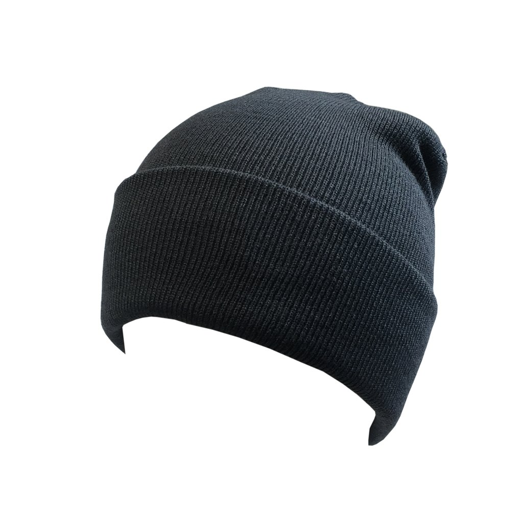 """Custom Knit Beanie Cuffed 12"""" (Embroidered with Logo) - Charcoal - AF6011"""
