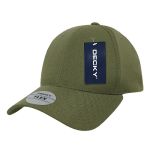 Custom Baseball Flex Hats (Embroidered with Logo) - Olive - Decky 1016W