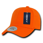 Custom Baseball Flex Hats (Embroidered with Logo) - Orange - Decky 1016W