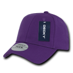 Custom Baseball Flex Hats (Embroidered with Logo) - Purple - Decky 1016W