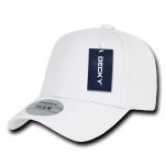 Custom Baseball Flex Hats (Embroidered with Logo) - White - Decky 1016W