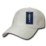 Custom Washed Polo Flex Dad Hat (Embroidered with Logo) - Creme - Decky 114