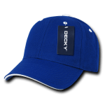 Custom Sandwich Bill Baseball Hat (Embroidered with Logo) - Royal/White - Decky 2003