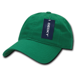Custom Relaxed Classic Dad Hat (Embroidered with Logo) - Kelly - Decky 205
