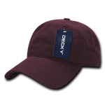 Custom Relaxed Classic Dad Hat (Embroidered with Logo) - Maroon - Decky 205