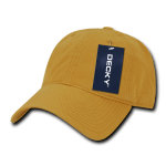 Custom Relaxed Classic Dad Hat (Embroidered with Logo) - Mustard - Decky 205