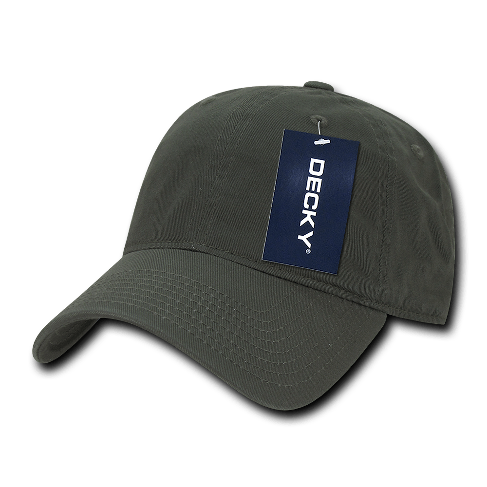 Custom Relaxed Classic Dad Hat (Embroidered with Logo) - Olive - Decky 205
