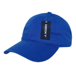 Custom Relaxed Classic Dad Hat (Embroidered with Logo) - Royal - Decky 205