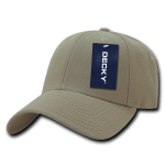 Custom Low Crown Structured Baseball Hat (Embroidered with Logo) - Khaki - Decky 206