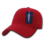 Custom Low Crown Structured Baseball Hat (Embroidered with Logo) - Red - Decky 206