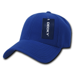 Custom Low Crown Structured Baseball Hat (Embroidered with Logo) - Royal - Decky 206