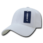 Custom Low Crown Structured Baseball Hat (Embroidered with Logo) - White - Decky 206
