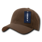 Custom Curve Bill Deluxe Baseball Hat (Embroidered with Logo) - Brown - Decky 207