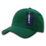 Custom Curve Bill Deluxe Baseball Hat (Embroidered with Logo) - Forest - Decky 207