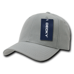 Custom Curve Bill Deluxe Baseball Hat (Embroidered with Logo) - Grey - Decky 207