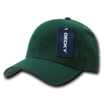 Custom Curve Bill Deluxe Baseball Hat (Embroidered with Logo) - Hunter - Decky 207