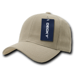Custom Curve Bill Deluxe Baseball Hat (Embroidered with Logo) - Khaki - Decky 207