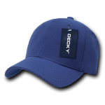 Custom Curve Bill Deluxe Baseball Hat (Embroidered with Logo) - Navy - Decky 207