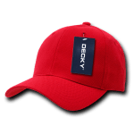 Custom Curve Bill Deluxe Baseball Hat (Embroidered with Logo) - Red - Decky 207
