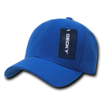 Custom Curve Bill Deluxe Baseball Hat (Embroidered with Logo) - Royal - Decky 207