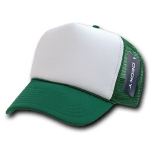 Custom Two-Tone Trucker Foam Mesh Hat (Embroidered with Logo) - Dark Green - Decky 210