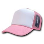 Custom Two-Tone Trucker Foam Mesh Hat (Embroidered with Logo) - Pink - Decky 210