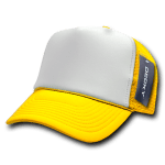 Custom Two-Tone Trucker Foam Mesh Hat (Embroidered with Logo) - Yellow - Decky 210