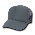 Custom Solid Color Trucker Mesh Foam Hat (Embroidered with Logo) - Charcoal - Decky 211