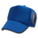 Custom Solid Color Trucker Mesh Foam Hat (Embroidered with Logo) - Royal - Decky 211