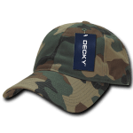 Custom Cotton Camo Baseball Hat (Embroidered with Logo) - Woodland Camo - Decky 216