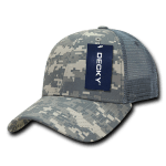 Custom Camo Trucker Baseball Cap (Embroidered with Logo) - ACU Camo - Decky 218