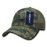 Custom Camo Trucker Baseball Cap (Embroidered with Logo) - MCU Camo - Decky 218