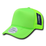 Custom Solid Color Neon Trucker Foam Mesh Hat (Embroidered with Logo) - Neon Green - Decky 221