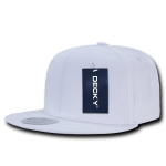 Custom Cotton Snapback Flat Bill Hat (Embroidered with Logo) - White - Decky 361