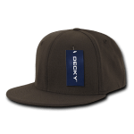 Custom Snapback Flat Bill Flex Hat (Embroidered with Logo) - Brown - Decky 873