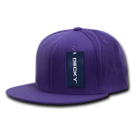Custom Snapback Flat Bill Flex Hat (Embroidered with Logo) - Purple - Decky 873
