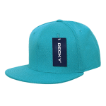 Custom Snapback Flat Bill Flex Hat (Embroidered with Logo) - Teal - Decky 873