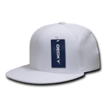 Custom Snapback Flat Bill Flex Hat (Embroidered with Logo) - White - Decky 873