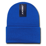Custom Long Beanies (with cuff) (Embroidered with Logo) - Royal - Decky KC