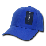 Custom Kids' Baseball Cap (Embroidered with Logo) - Royal - Decky 7001