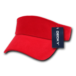 Custom Youth Visors (Embroidered with Logo) - Red - Decky 7007