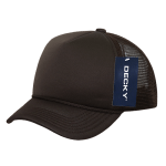 Custom Youth Trucker Mesh Baseball Hat (Embroidered with Logo) - Brown - Decky 7010