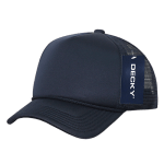 Custom Youth Trucker Mesh Baseball Hat (Embroidered with Logo) - Navy - Decky 7010