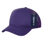 Custom Youth Trucker Mesh Baseball Hat (Embroidered with Logo) - Purple - Decky 7010