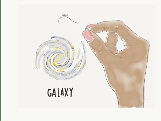 Galaxy as a grain of sand